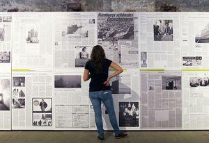 Herzog & de Meuron's exhibit documented their controversial Elbphilharmonie in Hamburg at Common Ground.