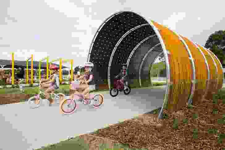 Sydney Park Bike Track by Turf Design Studio and Environmental Partnership.