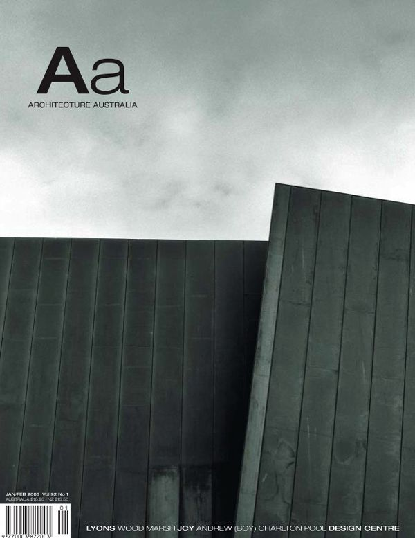 Architecture Australia, January 2003