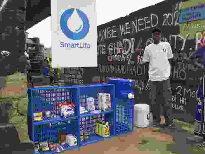 A prototype for SmartLife, a project led by IDEO.org, in Nairobi, Kenya. The scalable retail business improves access to clean water, personal care products and health education.