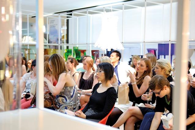 Artichoke night school audience members at the Space showroom, Brisbane.