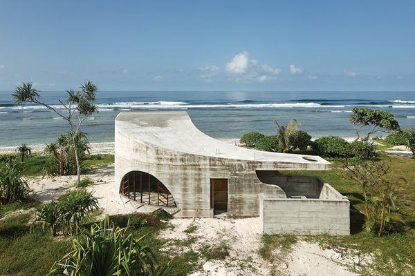 """A typical """"Guiletta"""" guest villa at Kristin Green's La Plage du Pacifique."""
