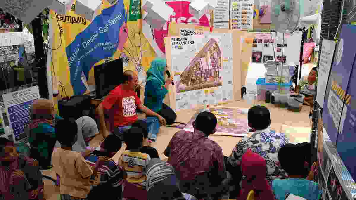 """A presentation of community plans as part of the intensive co-design process, """"Panrita."""""""