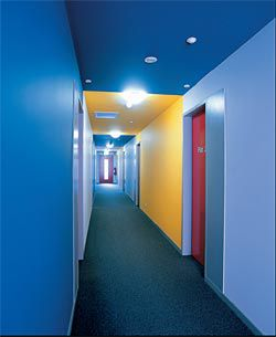 Corridor interior of the first fl oor.