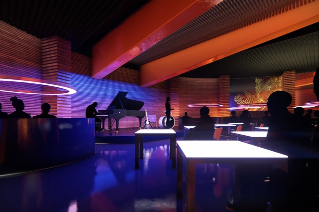 A jazz bar at the proposed MONA Motown by Fender Katsalidis.