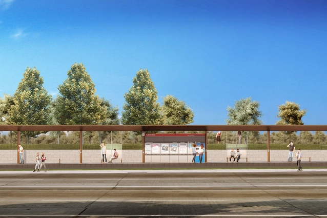 Design of the Sydney CBD and South East Light Rail stop at Alison Road Randwick by Grimshaw Architects.