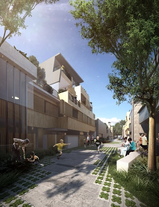 Laneway Tower-housing by Cox Architecture.