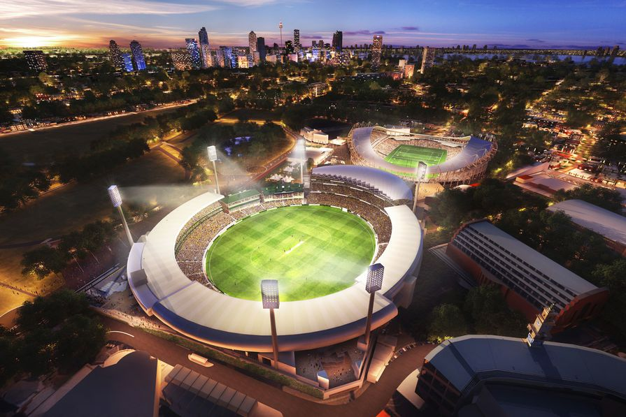 Proposed upgrade to Sydney Cricket Ground by Cox Architecture.