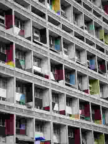 Le Corbusier's Unite d'Habitation, Berlin (1947-1952).