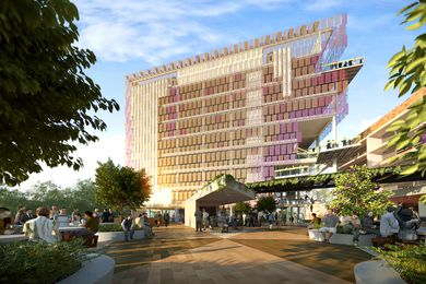 The proposed Sustainable Futures building designed by Lyons and M3 Architecture.
