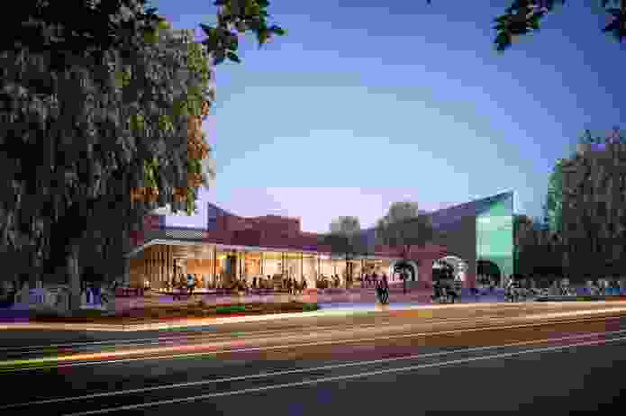 The proposed Arden station to be designed by Hassell, Weston Williamson and Rogers Stirk Harbour and Partners.