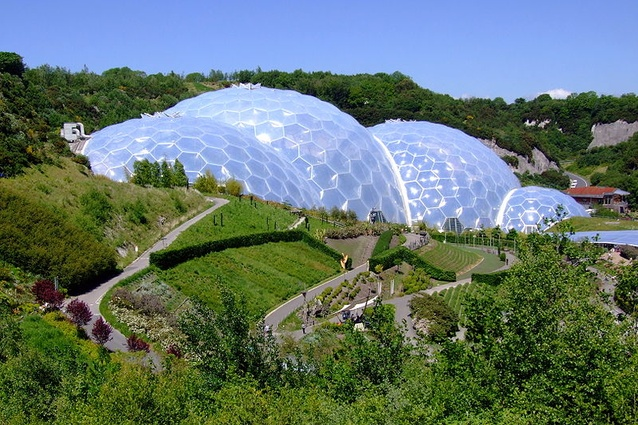 The original Eden Project in Cornwall.