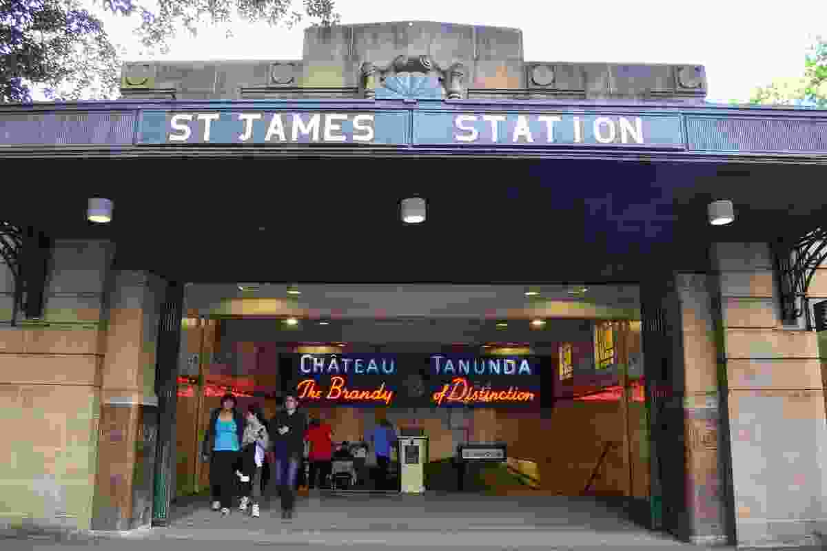 Located on the edge of Hyde Park in central Sydney, St James Station continues to service a number of lines today and is part of the City Circle railway loop.