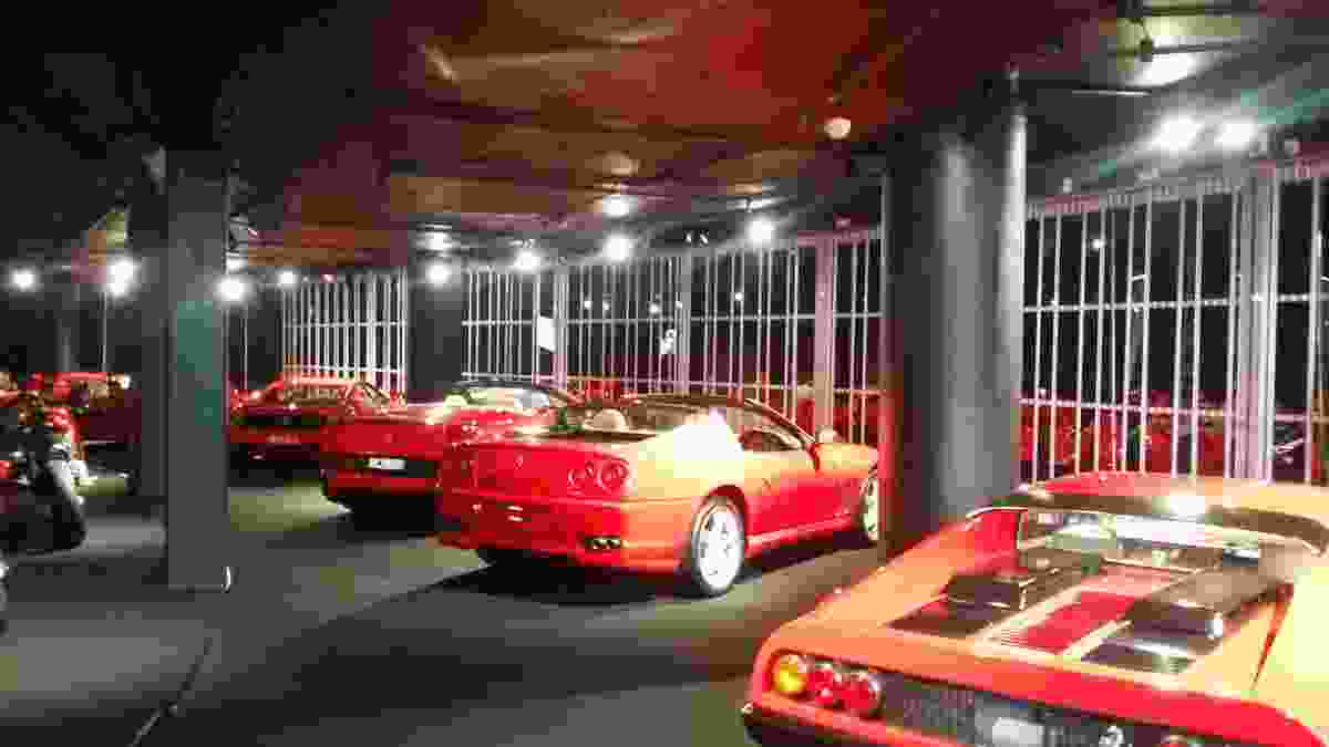 The Australian Trellis Door Company's FC1 wide panel folding door was installed at the Ferrari Showroom at the Star Casino in Sydney.