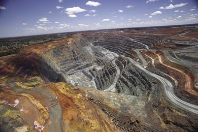 Super Pit gold mine in Kalgoorlie, Western Australia, part of Now.
