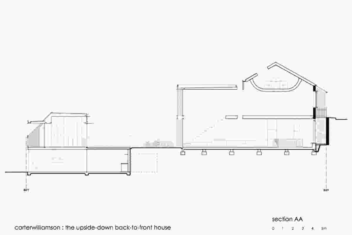 Section, Carter Williamson Architects.
