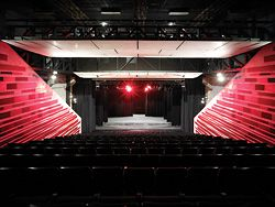 """The new 328-seat theatre, """"simple and convincing""""."""