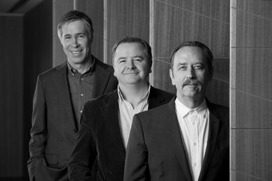 2015 National Architecture Conference creative team (L–R): Hamish Lyon, Andrew Mackenzie, Donald Bates.