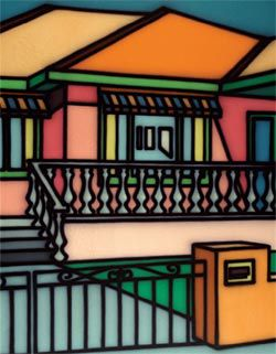 Howard Arkley, Theatrical Facade, 1996. Parliament House Collection, Canberra.