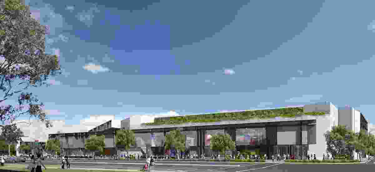 Proposed changes to the facades on the buildings facing Captain Cook Drive by architecture practice HDR Rice Daubney.