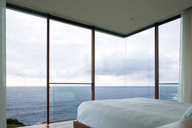 Uninterrupted ocean views are enjoyed from the eastern edge.