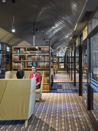 The new library of the refurbished Forgan Smith building at the University of Queensland by BVN.