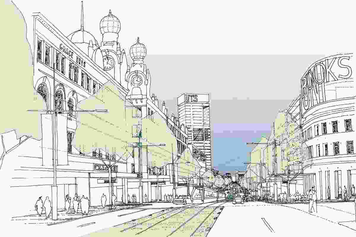 An impression of Parramatta Road, Broadway – its nexus to the city.