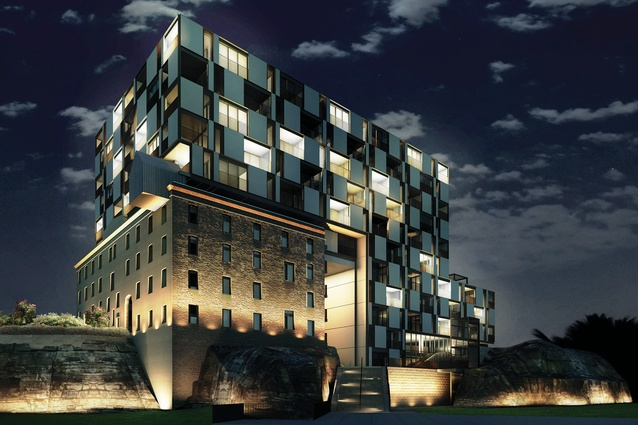 Grimshaw's proposal for the Harbour Mill Apartments in Pyrmont, Sydney, which will adapt the former Edwin Davey and Sons Flour Mill into 139 apartments. The project was procured through the City of Sydney's design competition guidelines.