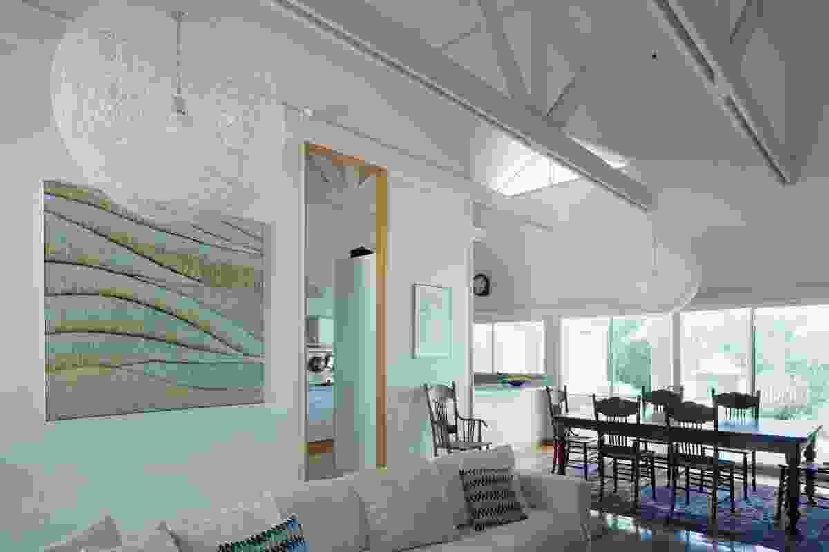 The living area. Artwork: Yvonne Mills-Stanley.