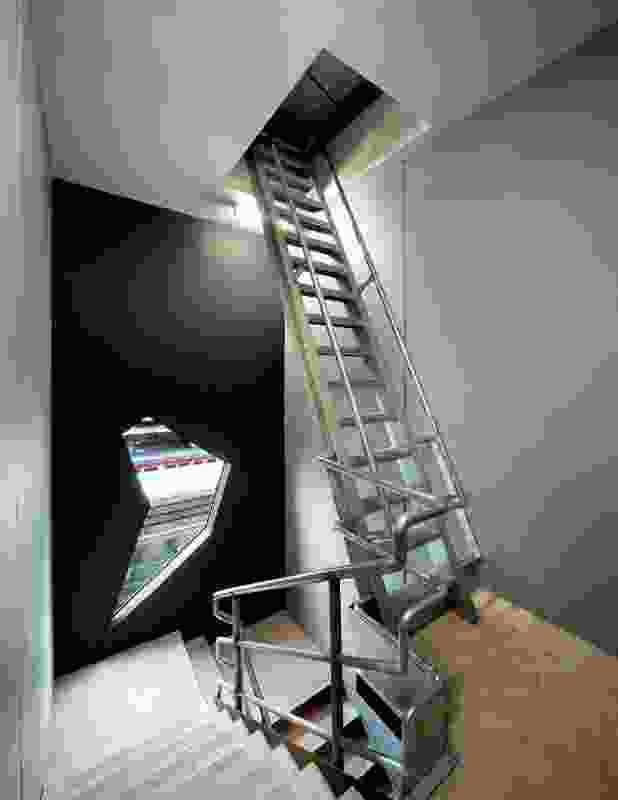 The stairwell seen from the third floor landing.