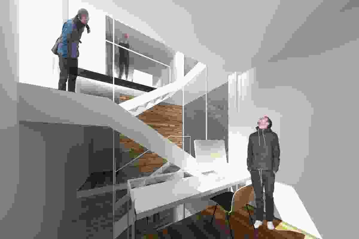 Concept drawing from Laneway House by MODO.