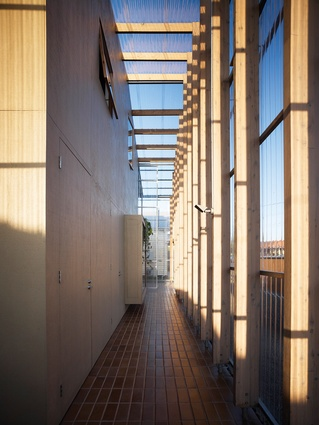 A verandah-like space forms a threshold to the school.