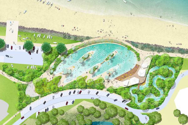 Proposed Yeppoon foreshore revitalization by Taylor Cullity Lethlean.