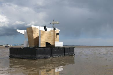 Matthew Butcher's Flood House is an infrastructure project that monitors tidal movements in the Thames Estuary in England.