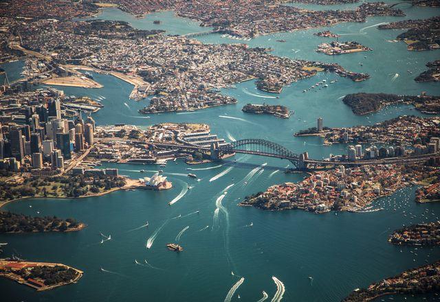 Aerial image of Sydney.