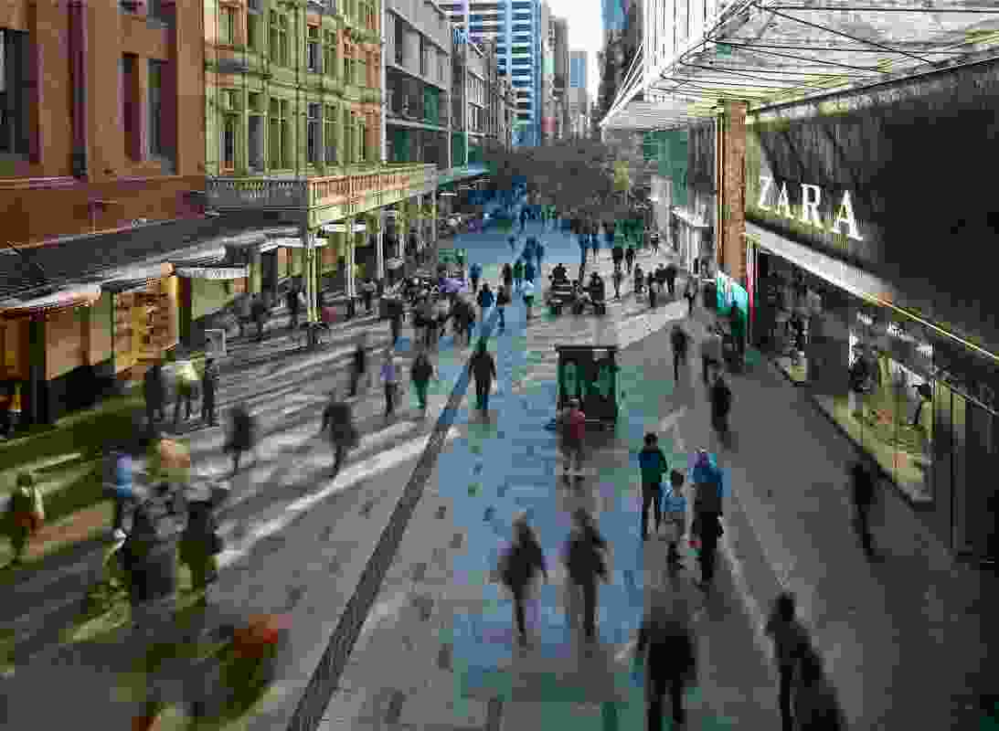 Pitt Street Mall Public Domain Upgrade by Tony Caro Architecture.