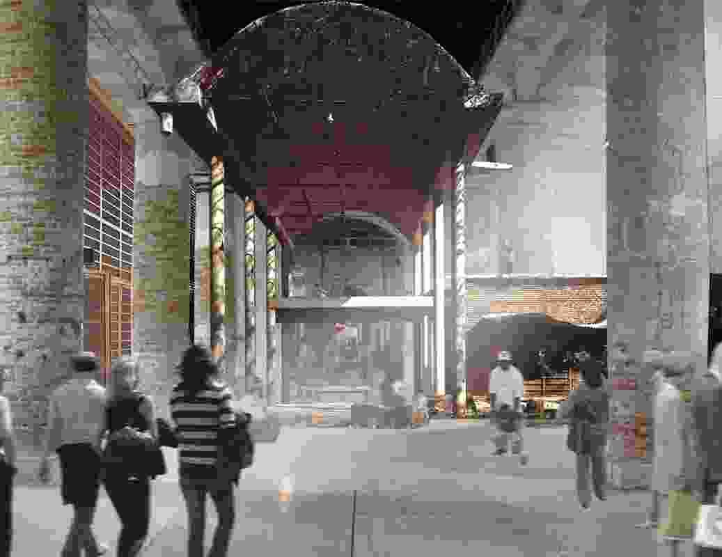 Photomontage of the 2012  Venice installation.