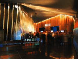 The ACCA foyer on opening night.