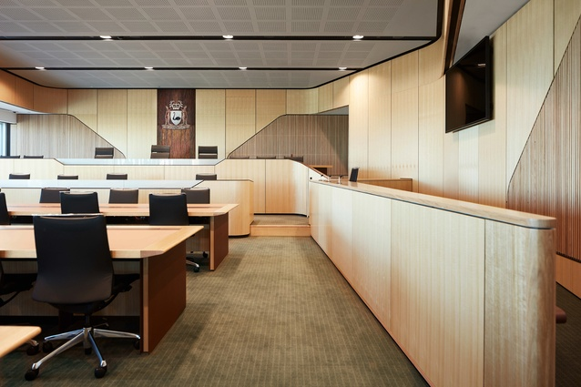 Supreme Court of Western Australia by Peter Hunt Daryl Jackson (Joint Venture) Architects (PHDJ).