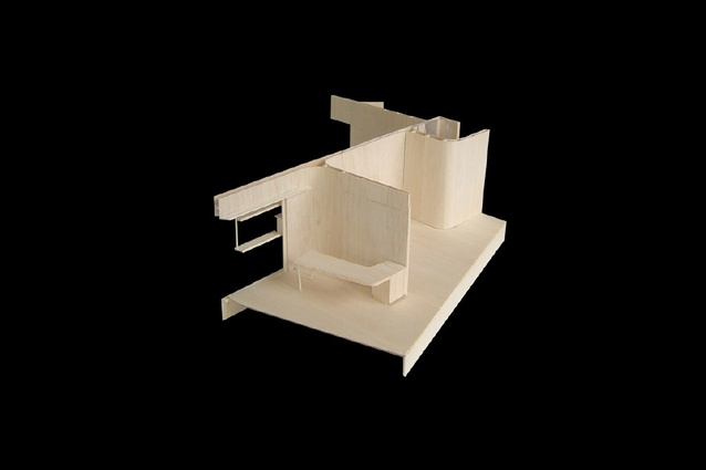 A model of the Castlecrag House.