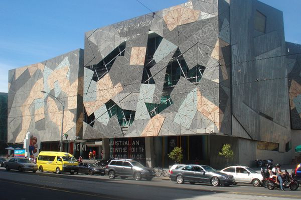 The Australian Centre for the Moving Image occupies a four-storey purpose-built building at Melbourne's Federation Square designed by Lab Architecture Studio and Bates Smart.