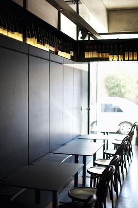 Black is the predominate colour of the fitout, including black aluminium panels on the southern wall to soak up light.