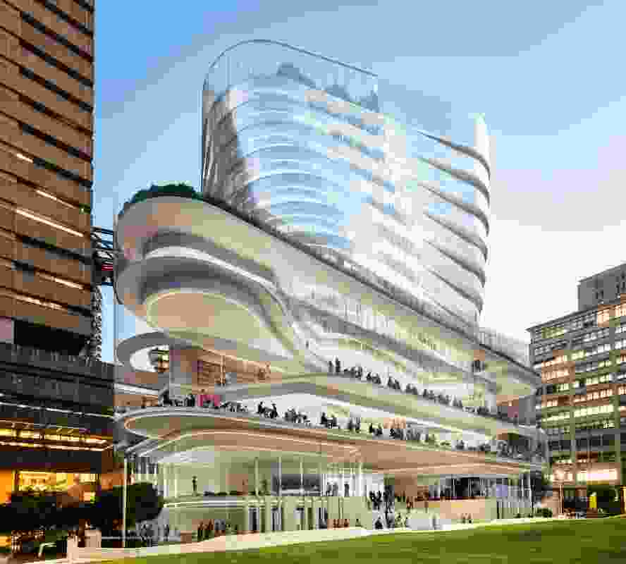 The proposed UTS Building 2 designed by FJMT.