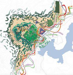 Shortlisted entry by Clouston Associates Landscape Architects.
