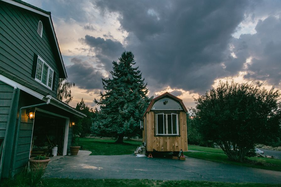 Nikki and Mitchell's tiny house.