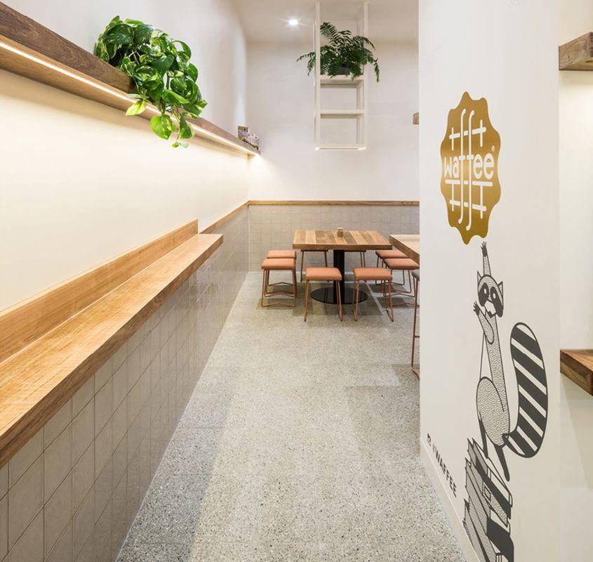 The Fibonacci Stone terrazzo tiles selected for Waffee cafe