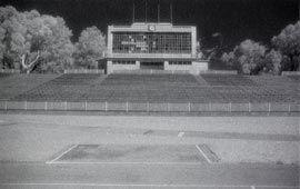 Perry Lakes Stadium scoreboard in 2003.
