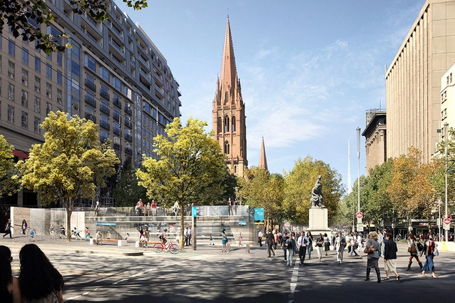 The proposed CBD South station to be designed by Hassell, Weston Williamson and Rogers Stirk Harbour and Partners.