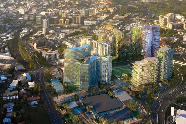 The proposed Millennium Square project by Archipelago and Fairweather Architecture will be located on a four-hectare site in inner-city Bowen Hills.