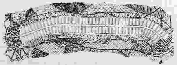 Sketch of Arturo Soria y Mata's ciudad lineal.